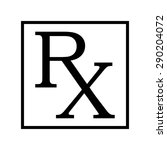 medicine symbol rx prescription | Shutterstock .eps vector #290204072