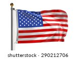 3d render of us flag | Shutterstock . vector #290212706