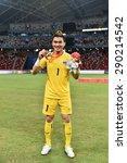 Small photo of Kallang,Singapore - JUNE 15:Chanin Sae-Eae celebrates winning the gold medal. 28th SEA Games Singapore 2015 at Singapore National Stadium on JUNE15 2015