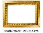 rectangular wooden frame... | Shutterstock . vector #290216195