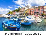 beautiful italian islands  ... | Shutterstock . vector #290218862
