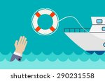 vector business concept in flat ... | Shutterstock .eps vector #290231558