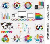 collection of infographic... | Shutterstock .eps vector #290234966