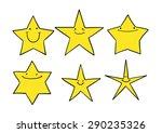 set of cute cartoon stars | Shutterstock .eps vector #290235326