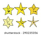 set of stars with different... | Shutterstock .eps vector #290235356