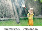 little girl playing in the... | Shutterstock . vector #290236556