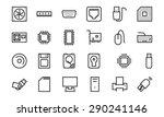 computer hardware vector line... | Shutterstock .eps vector #290241146