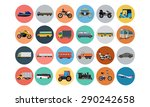 flat transport icons 4 | Shutterstock .eps vector #290242658