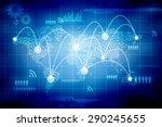 digital world map  ... | Shutterstock . vector #290245655