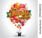 the carnival funfair and magic... | Shutterstock .eps vector #290248232