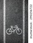bike lane asphalt texture | Shutterstock . vector #290256722