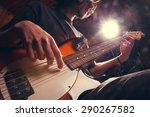 rock star with a guitar | Shutterstock . vector #290267582
