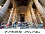 rome   october 2  2012  people... | Shutterstock . vector #290269382