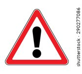 hazard warning attention sign.... | Shutterstock .eps vector #290277086