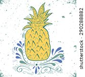 hand drawn vintage label with...   Shutterstock .eps vector #290288882