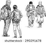 young people on a city street | Shutterstock .eps vector #290291678