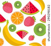 vector background fruit  | Shutterstock .eps vector #290298182