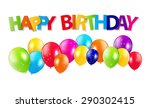 colored balloons background  ... | Shutterstock . vector #290302415