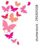Stock vector butterflies design 290305208