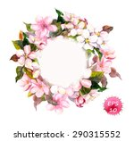 frame wreath with cherry  apple ... | Shutterstock .eps vector #290315552