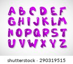 hand drawn font on white... | Shutterstock .eps vector #290319515