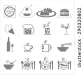 vector icon  food and beverages. | Shutterstock .eps vector #290320802