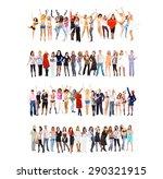 united colleagues workforce...   Shutterstock . vector #290321915