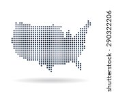 usa dot map. concept for... | Shutterstock .eps vector #290322206