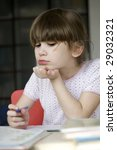 little cute girl seven years... | Shutterstock . vector #29032321