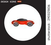 red car. icon. vector design | Shutterstock .eps vector #290325836