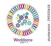 workforce design over white... | Shutterstock .eps vector #290333618