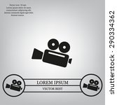 cinema camera icon | Shutterstock .eps vector #290334362