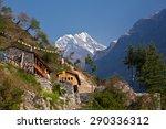 nepal   hiking path through...   Shutterstock . vector #290336312