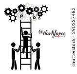 workforce design over white... | Shutterstock .eps vector #290337482