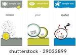leaflet template | Shutterstock .eps vector #29033899