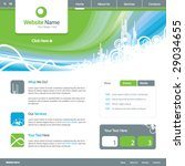 web site design template 5 ... | Shutterstock .eps vector #29034655