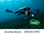 diver take a photo video upon... | Shutterstock . vector #290351495