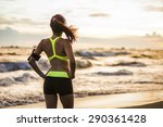 runner athlete running at... | Shutterstock . vector #290361428