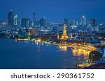 wat arun  temple at twilight ... | Shutterstock . vector #290361752