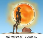 a boy standing and watching the ... | Shutterstock . vector #2903646
