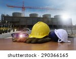 work outdoor wear safety... | Shutterstock . vector #290366165
