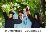 graduation  group of students... | Shutterstock . vector #290385116