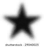 black and white halftone star
