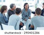 concerned men comforting... | Shutterstock . vector #290401286
