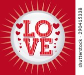 love card design  vector... | Shutterstock .eps vector #290415338