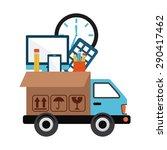 delivery service design  vector ... | Shutterstock .eps vector #290417462