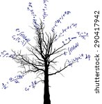 tree with mathematical... | Shutterstock .eps vector #290417942