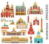 saint petersburg famous... | Shutterstock .eps vector #290423342