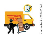 delivery service design  vector ... | Shutterstock .eps vector #290431562