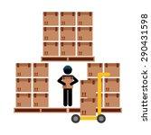 delivery service design  vector ... | Shutterstock .eps vector #290431598